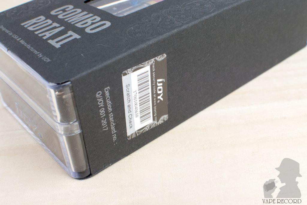 Combo RDTA 2 パッケージ側面