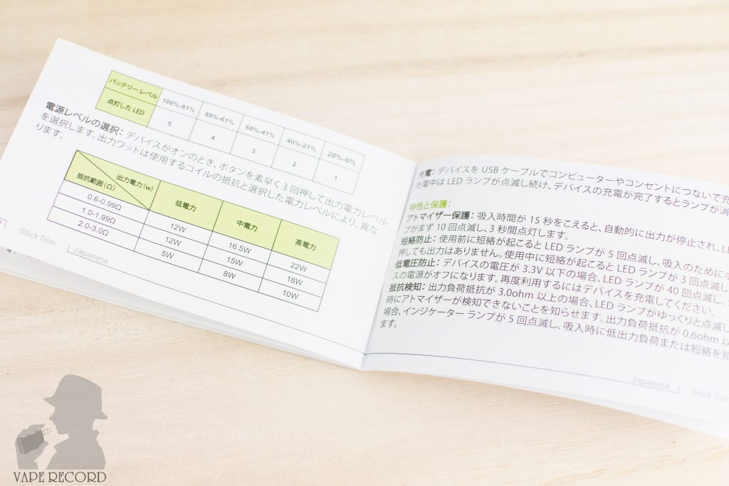 iStick Trim マニュアル