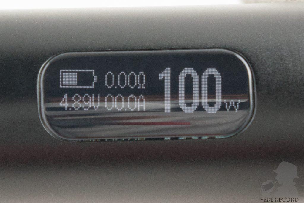 iStick Pico 21700 ディスプレイ